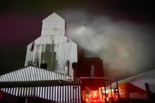 У Судилкові внаслідок пожежі зерносушарки знищено 1 тонну кукурудзи