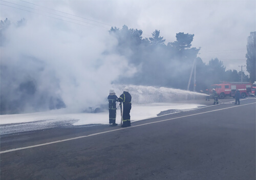 У Нетішині згорів автомобіль «Славута»