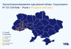 Укрзалізниця на зиму відновлює рух поїзда «Гуцульщина», який курсує через Хмельницький