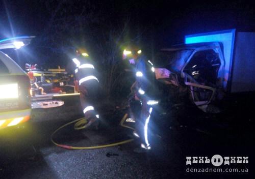 Лобове зіткнення на Шепетівщині: госпіталізували водія та пасажира