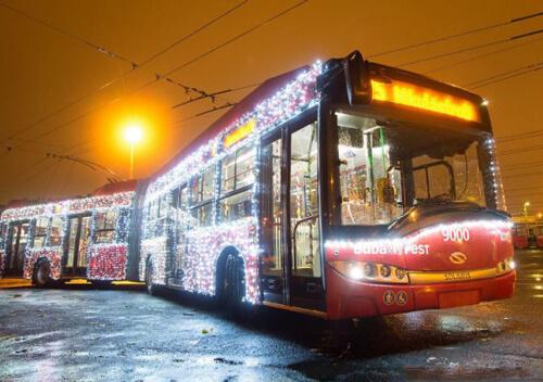 В обласному центрі в новорічну ніч курсуватимуть святкові тролейбуси