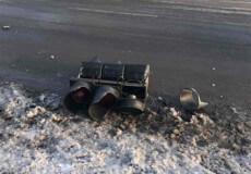 У різдвяні свята в Шепетівці внаслідок ДТП зруйновано електроопору та світлофор