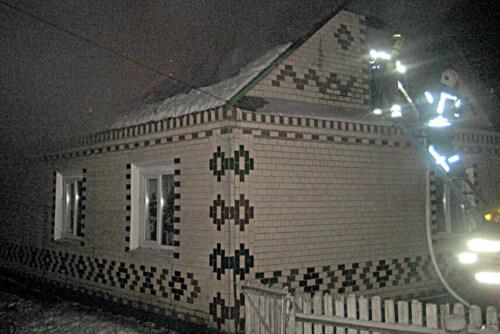 На Білогірщині горів житловий будинок