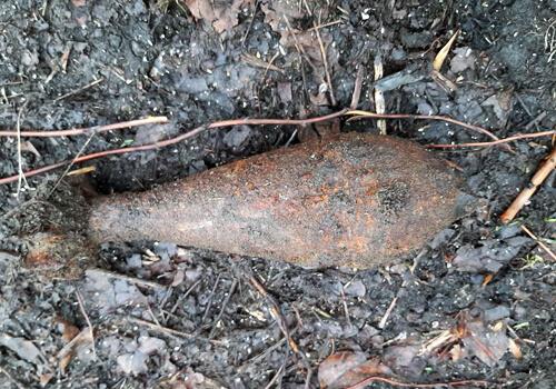 У Пашуках виявили мінометну міну часів Другої світової війни