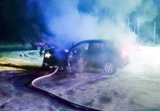 У Славуті горів автомобіль Renault Koleoz