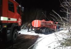 В одному з сіл Полонської ТГ горіла господарча будівля