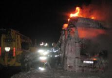 На Хмельниччині посеред селища згоріли відразу дві фури