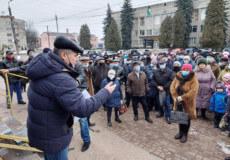 Обурені зростанням тарифів славутчани вийшли на вулиці