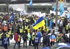 Шепетівські залізничники приєдналися до масштабної акції протесту під Кабміном