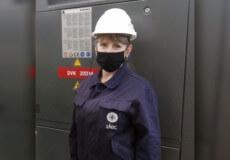 Інженерку Хмельницької АЕС нагородили нагрудним знаком «Відмінник атомної енергетики»