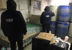 Хмельниччина:на виробництві та збуті контрафактного алкоголю ділки заробляли до 4 млн грн