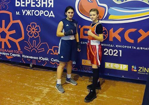 Юні боксерки повернулися із чемпіоната з перемогами