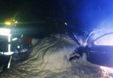 У Шепетівському районі на трасі на ходу загорівся автомобіль Audi