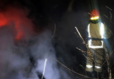 У Шепетівці сталася пожежа на території садового товариства «Учитель»