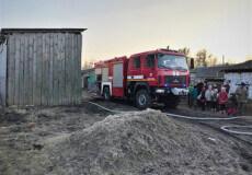 На Шепетівщині згорів сінник