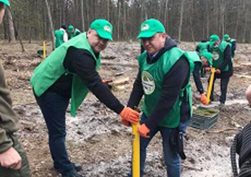 Чиновники Шепетівського району долучилися до акції «Створюємо ліси разом»