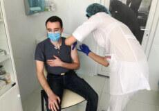 Полісменів Шепетівського району щеплюють вакциною CoronaVac