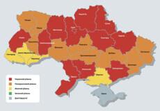 Хмельниччина залишилася в «червоній» зоні, а Чернівецьку область перевели в «жовту»