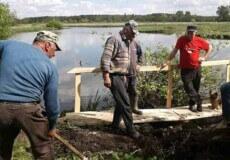 У тергромаді на Шепетівщині селяни реконструювали місток через річку Хомору