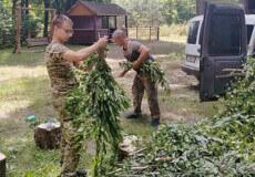 На Шепетівщині єгері взялися за заготівлю кормів для лісових мешканців