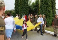 У Шепетівці підняли Державний прапор та вшанували полеглих за нього краян