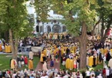 Паломники з Ізяслава приєдналися до літургії, яку очолили Патріарх Варфоломій та митрополит Епіфаній