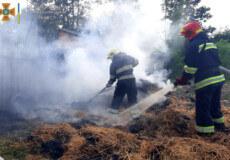У Славутській тергромаді загорілася солома