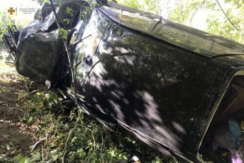 На Шепетівщині перекинулося авто: є постраждалі