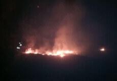 У Полонному полум'я охопило територію цвинтаря
